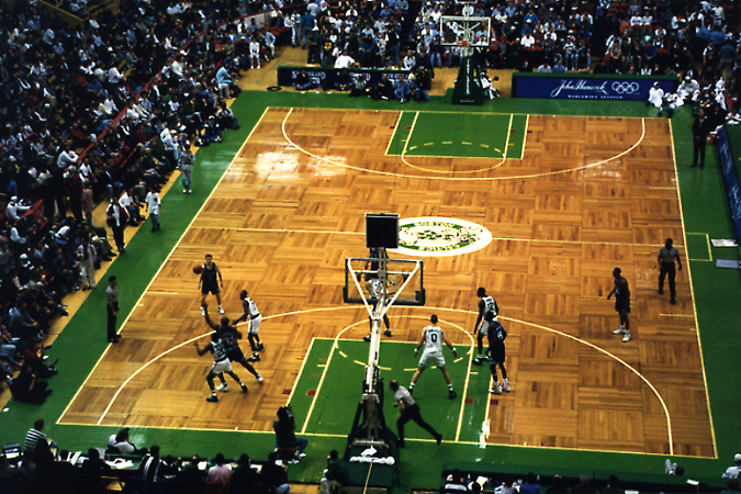 Unlevel parquet at the Boston Garden
